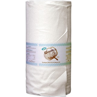"Warm & White Cotton Batting By-The-Yard-Full/Queen Size 90""X40yd FOB: MI"