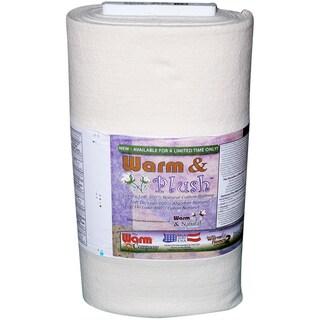 """Warm & Plush Cotton Batting By-The-Yard-Crib Size 45""""X10yd FOB: MI"""