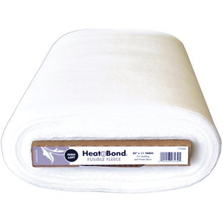 "Heat'n Bond Extra High Loft Fleece Fusible Interfacing-White 20""X11yd FOB: MI"