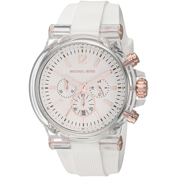 e58a9a057099 Shop Michael Kors Men s MK8577  Dylan  Chronograph White Silicone Watch -  Free Shipping Today - Overstock - 16100963