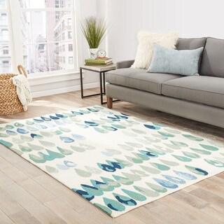 "Dew-Drop Indoor/ Outdoor Geometric Multicolor Area Rug (5' X 7'6"")"