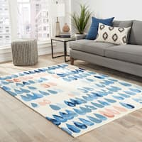 Dew-Drop Indoor/ Outdoor Geometric Multicolor Area Rug - 5' x 7'6""