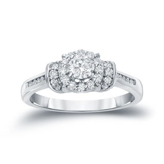 Auriya 14k Gold 1/2ct TDW Diamond Engagement Ring (H-I, I1-I2)