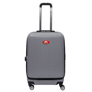 NUKI Front Accessible Houndstooth 24-inch Hardside Spinner Upright