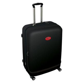 NUKI Front Accessible Black 24-inch Hardside Spinner Upright