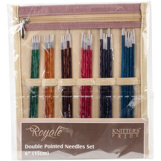 "Royale Double Pointed Needles Set 6""-Sizes 0/2mm To 3/3.25mm"