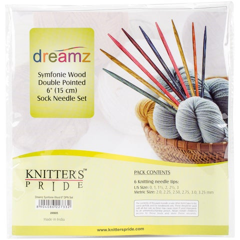 "Dreamz Double Pointed Needles Set 6""-Socks Kit"