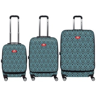 NUKI Front Accessible Rococo 3-piece Hardside Spinner Luggage Set