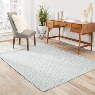 Sedona Indoor/ Outdoor Geometric Blue/ Beige Area Rug (5' X 8')