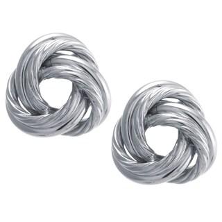 Sterling Silver Large Knot Stud Earrings