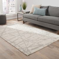 Nikki Chu by Jaipur Living Avondale Handmade Abstract White/ Gray Area Rug - 5' x 8'