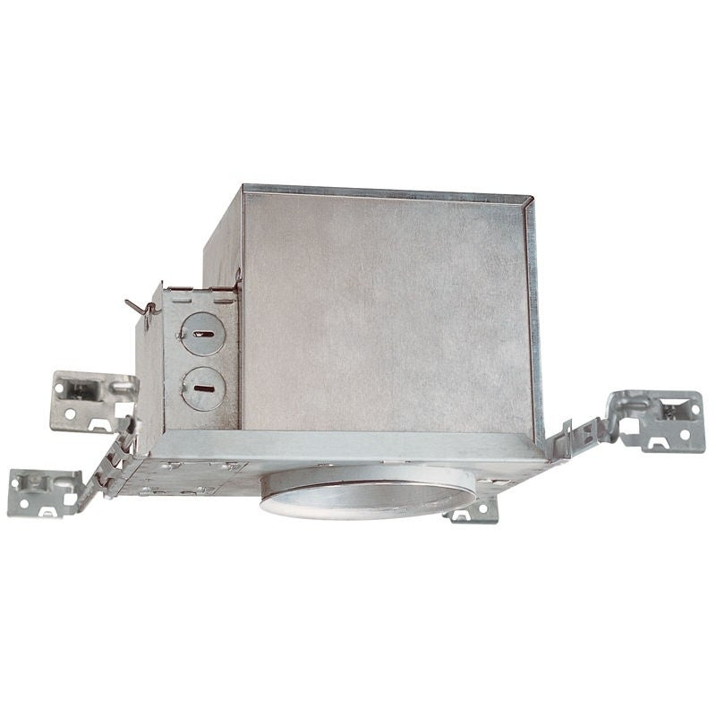 Lithonia Juno Lighting IC1 4-Inch IC rated New Construction Recessed Housing (Aluminum), Silver