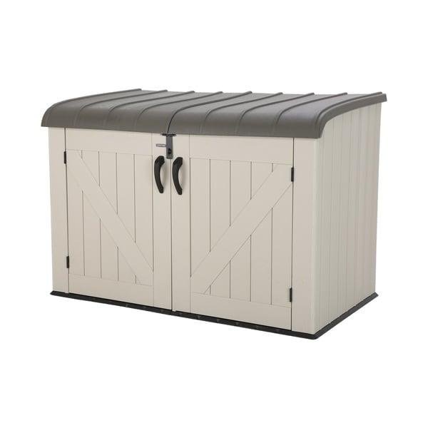 Lifetime Tan Plastic Horizontal Storage Box