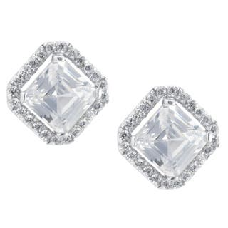 Sterling Silver Princess Cut Stud Earrings https://ak1.ostkcdn.com/images/products/16105170/P22487560.jpg?impolicy=medium