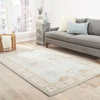 Maison Rouge Ashbery Handmade Floral Blue/ Grey Area Rug - 5' x 8'