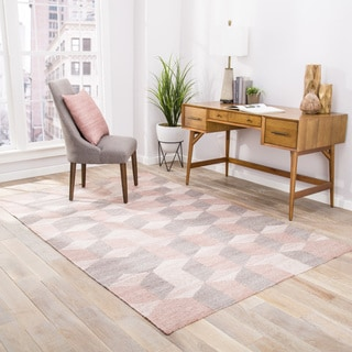 Malkin Indoor/Outdoor Geometric Gray/ Beige Area Rug (5' X 8')