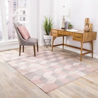 Malkin Indoor/Outdoor Geometric Gray/ Beige Area Rug (5' X 8')