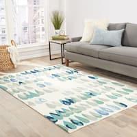 "Dew-Drop Indoor/ Outdoor Geometric Multicolor Area Rug - 7'6"" x 9'6"""