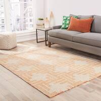 """Fes Indoor/ Outdoor Geometric Tan/ Orange Area Rug (7'6"""" X 9'6"""") - 7'6"""" x 9'6"""""""