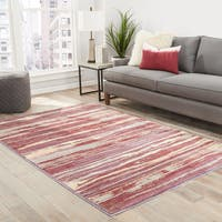 """Talvia Abstract Pink/ Red Area Rug (7'8"""" X 10')"""