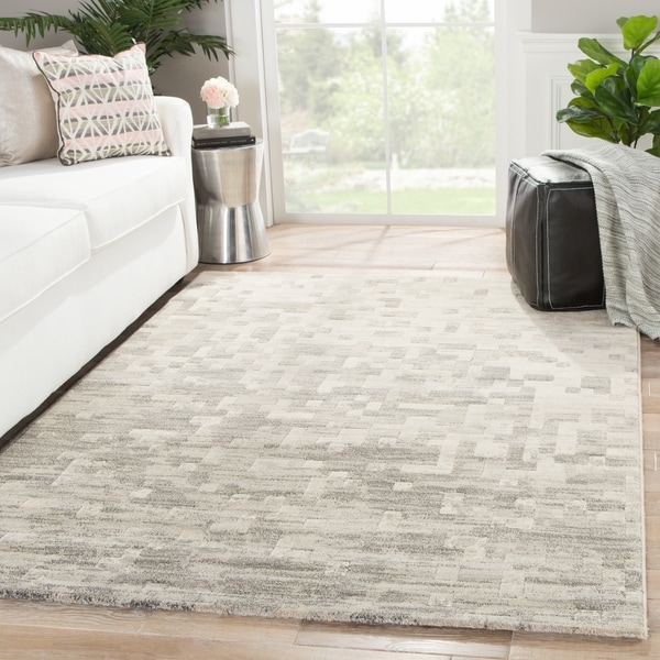 "Matrix Abstract Gray Area Rug (7'10"" X 10'10"") - 7'10"" x 10'10"""