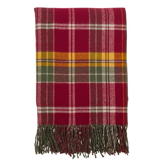 Classic Plaid Design Tassel Trim Throw