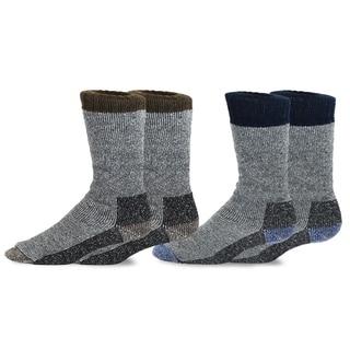Link to TeeHee Heavyweight Outdoor Wool Thermal Boot Socks for Men 2-Pack (Brown and Navy) Similar Items in Slippers, Socks & Hosiery