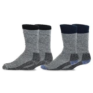Link to TeeHee Heavyweight Outdoor Wool Thermal Boot Socks for Men 2-Pack (Black and Navy) Similar Items in Slippers, Socks & Hosiery
