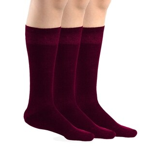 TeeHee Bamboo All Sports Half Cushion Socks with Arch Support 3-Pairs Pack (Purple) (3 options available)