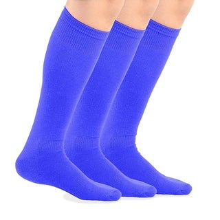 TeeHee Bamboo All Sports Half Cushion Socks with Arch Support 3-Pairs Pack (Royal Blue) (3 options available)