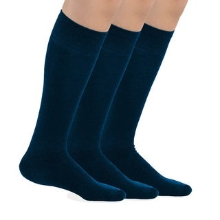 TeeHee Bamboo All Sports Half Cushion Socks with Arch Support 3-Pairs Pack (Navy) (3 options available)