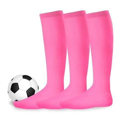 Teehee Socks Cotton Unisex Soccer Sports Team Flat Knit Socks 3 Pack