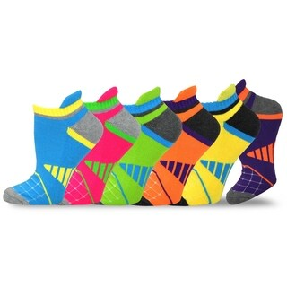 Teehee Women Cushioned Low Cut Socks 6-Pack