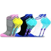 TeeHee Women Cotton Cushioned Low Cut With Tap Socks 3-Pack