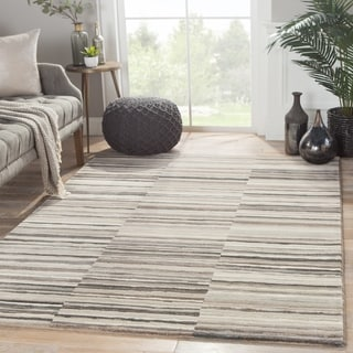 "Vermilion Stripe Taupe/ Brown Area Rug (7'10"" X 10'10"")"