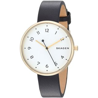 Skagen Women's SKW2626 'Signatur' Black Leather Watch