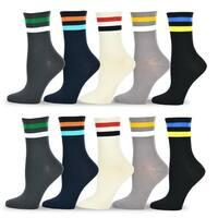TeeHee Women's Value Multicolored Cotton Crew Socks 10 pack