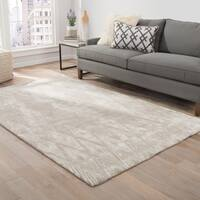 Nikki Chu by Jaipur Living Mulberry Handmade Geometric Gray/ Cream Area Rug (8' X 10') - 8' x 10'