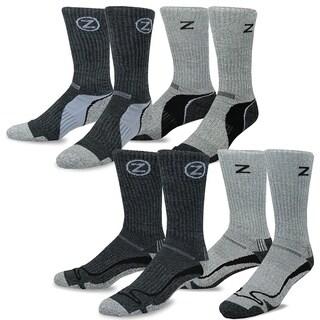 TeeHee Black and Grey Viscose Hiker Crew Socks (Pack of 4)