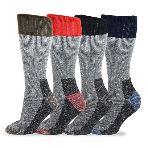 TeeHee Heavyweight Outdoor Wool Thermal Boot Socks 4 pair