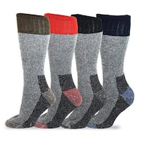 TeeHee Heavyweight Outdoor Wool Thermal Boot Socks (Pack of 4)