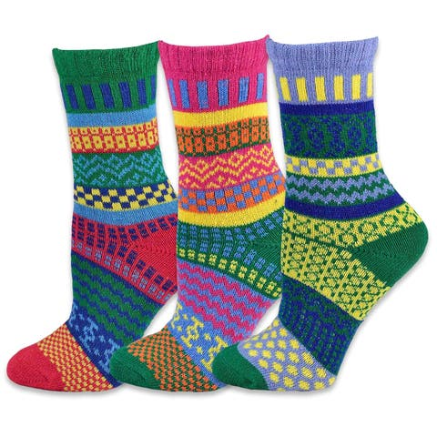 TeeHee Winter Crew Fun Socks for Women 3 Pairs Pack