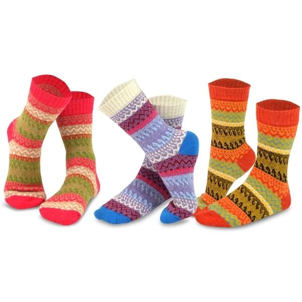 Multi NEW TeeHee Women/'s Winter Crew Fun 9 Pairs Socks 11 SIze