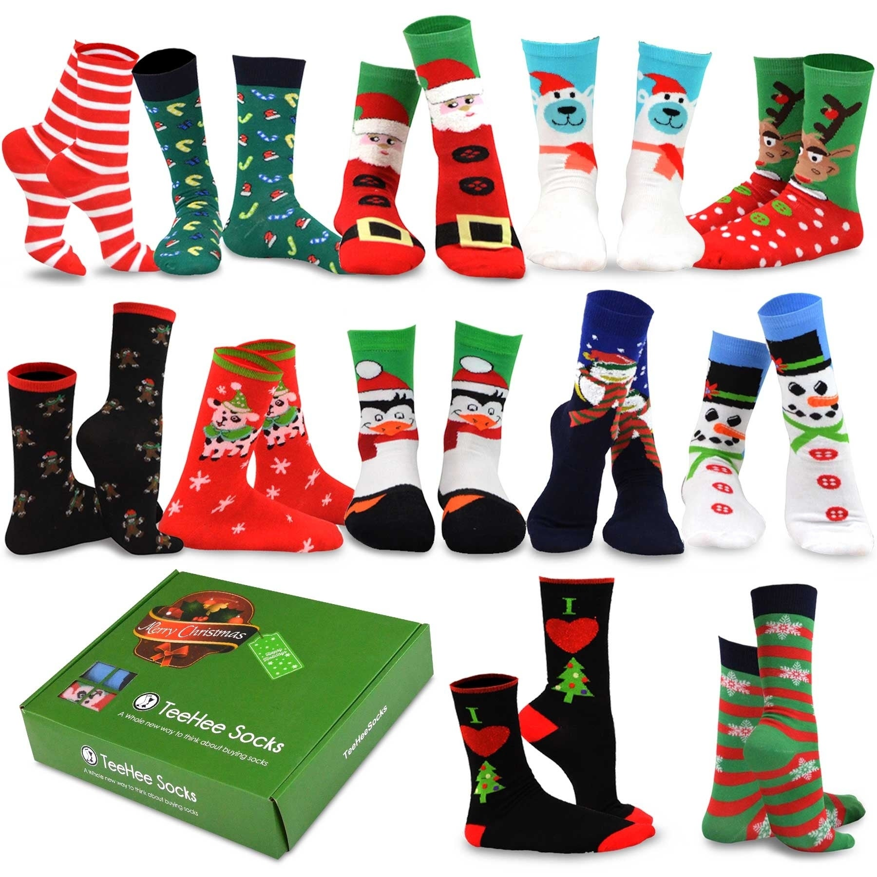 NEW Ladies Christmas Gift Socks 3 Pack Size 4-8