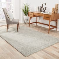 "Silas Handmade Solid Gray/ Taupe Area Rug (8' X 10') - 7'10""x9'10"""