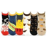 TeeHee Women's Foods No Show Socks 6-Pack