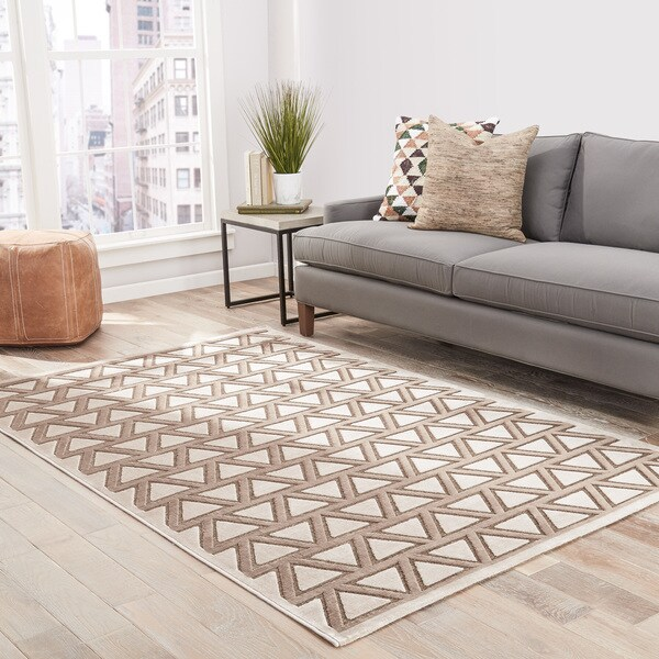 "Hamilton Geometric Brown/ Beige Area Rug - 7'6"" x 9'6"""