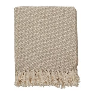 Classic Tassel Trim Cotton Throw