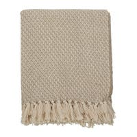 Classic Tassel Trim Cotton Throw
