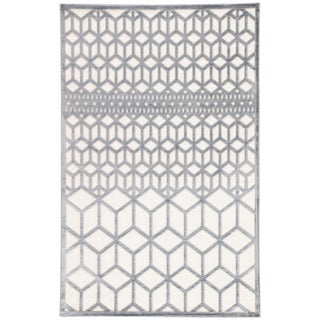 "Dane Geometric Gray/ White Area Rug (7'6"" x 9'6"")"